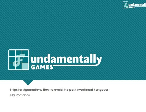 WEBINAR: 5 tips for gamedevs: How to avoid the post investment hangover